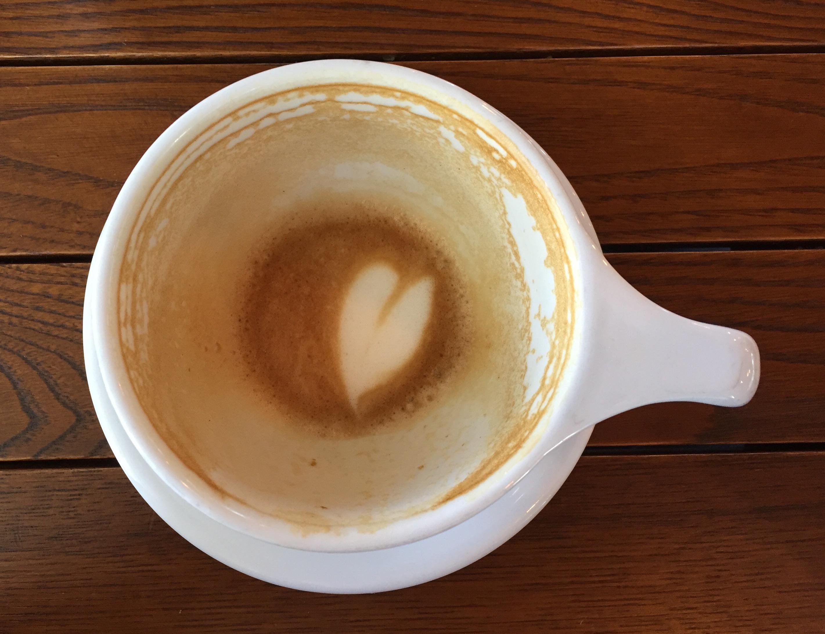 Heart Foam & End of a Latte - Auntie's