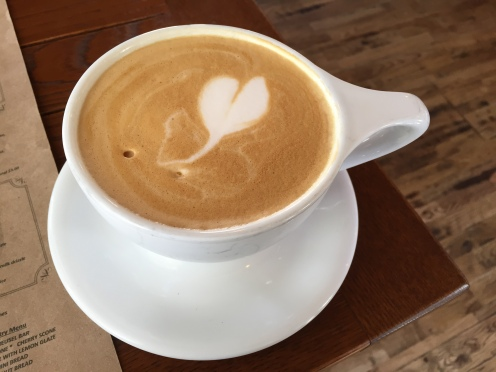 Heart Latte at Auntie's