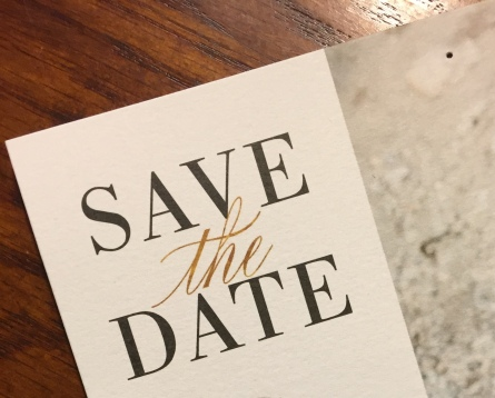 Save the Date Close-up