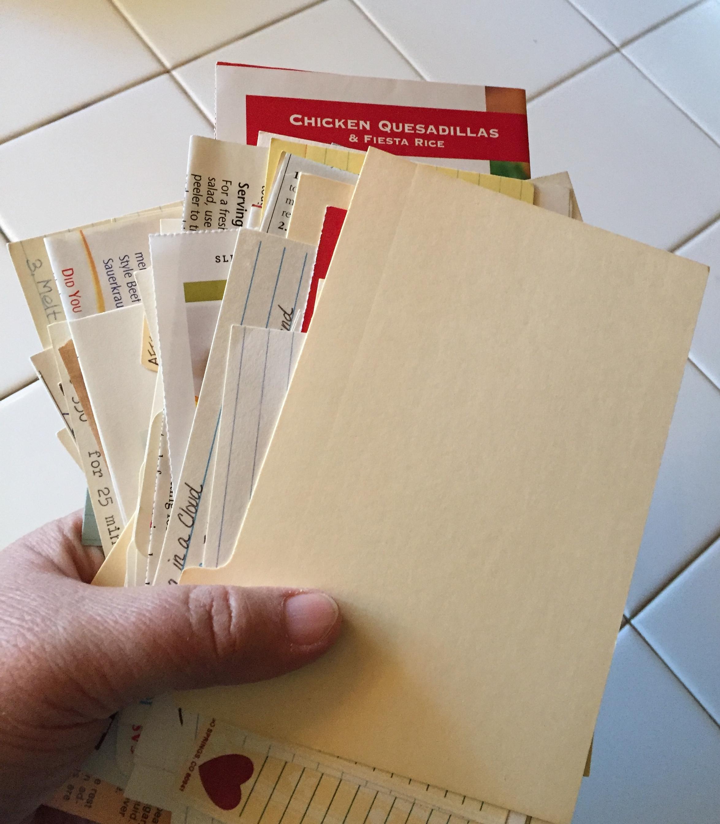 Handful of Recipe Cards