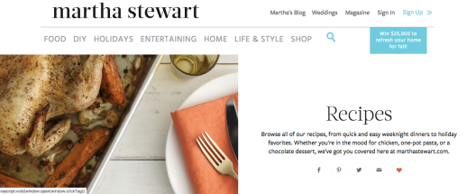 Martha Stewart Web Site