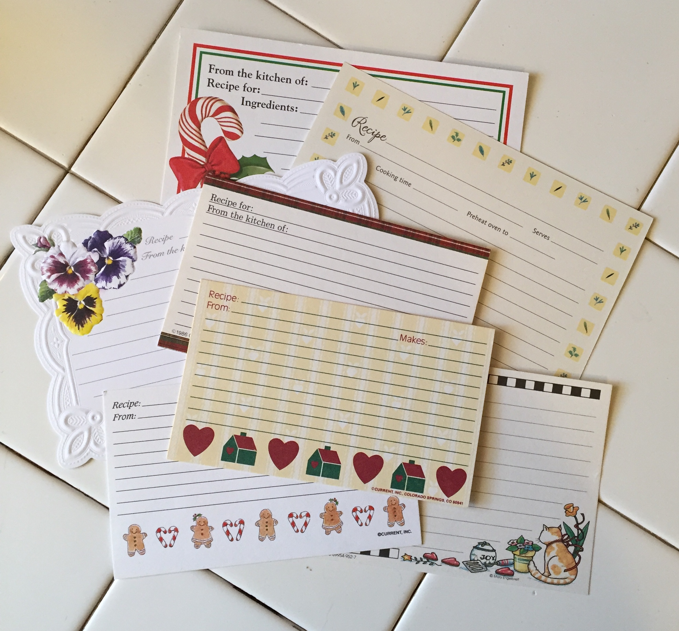 Variety of Recipe Cards