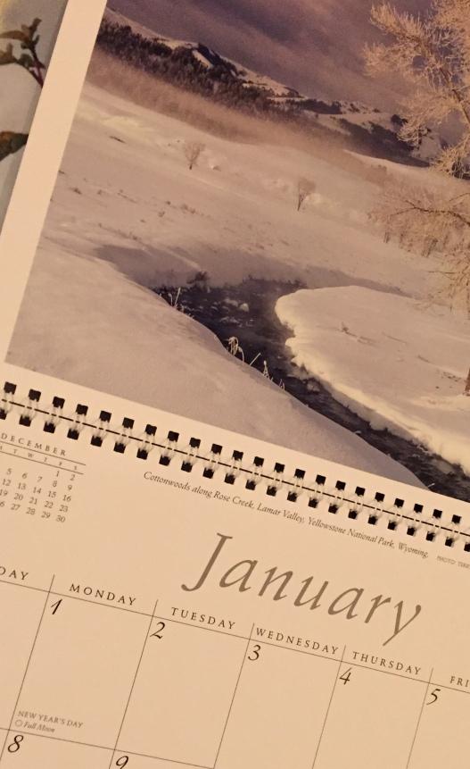 January 2018 Calendar Photo