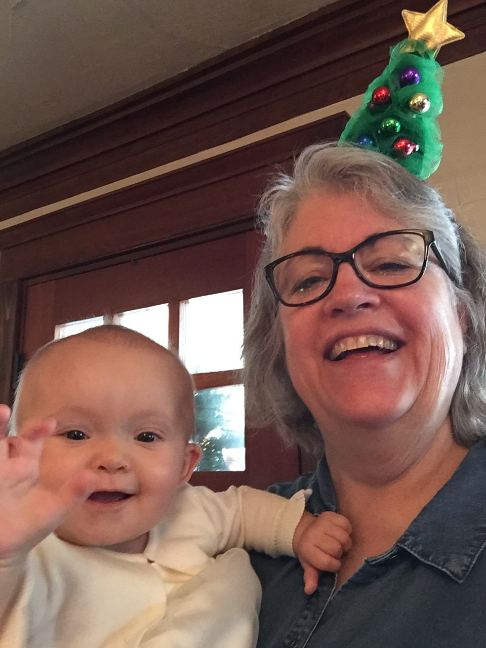 Merry Christmas from Great Niece Abby & I - Dec. 2017