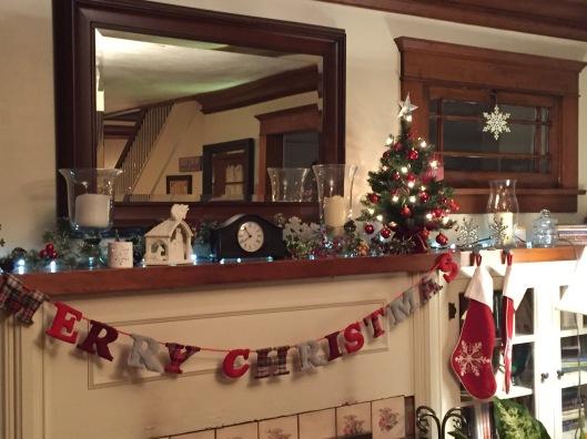 Our Christmas Mantle - Dec. 2017