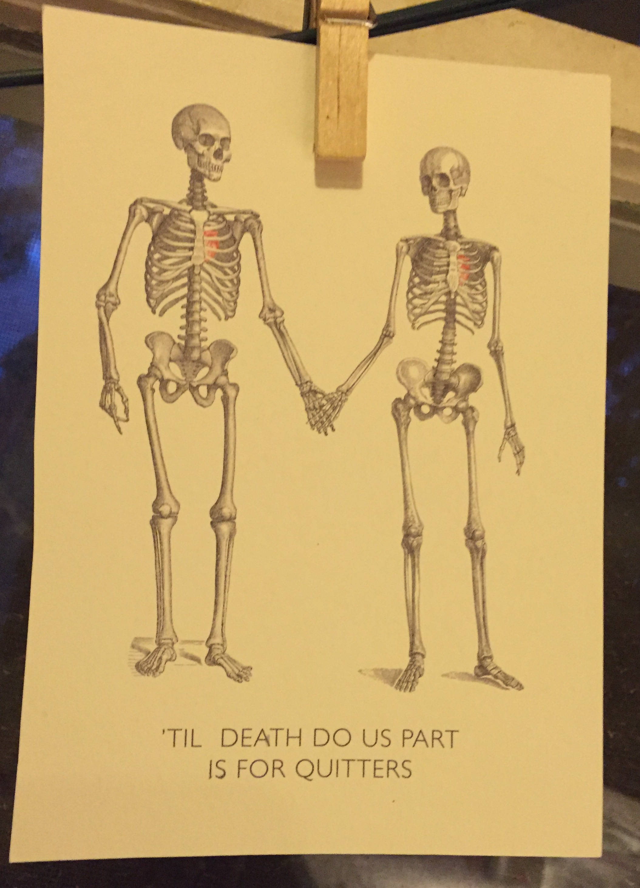 death is for quitters card