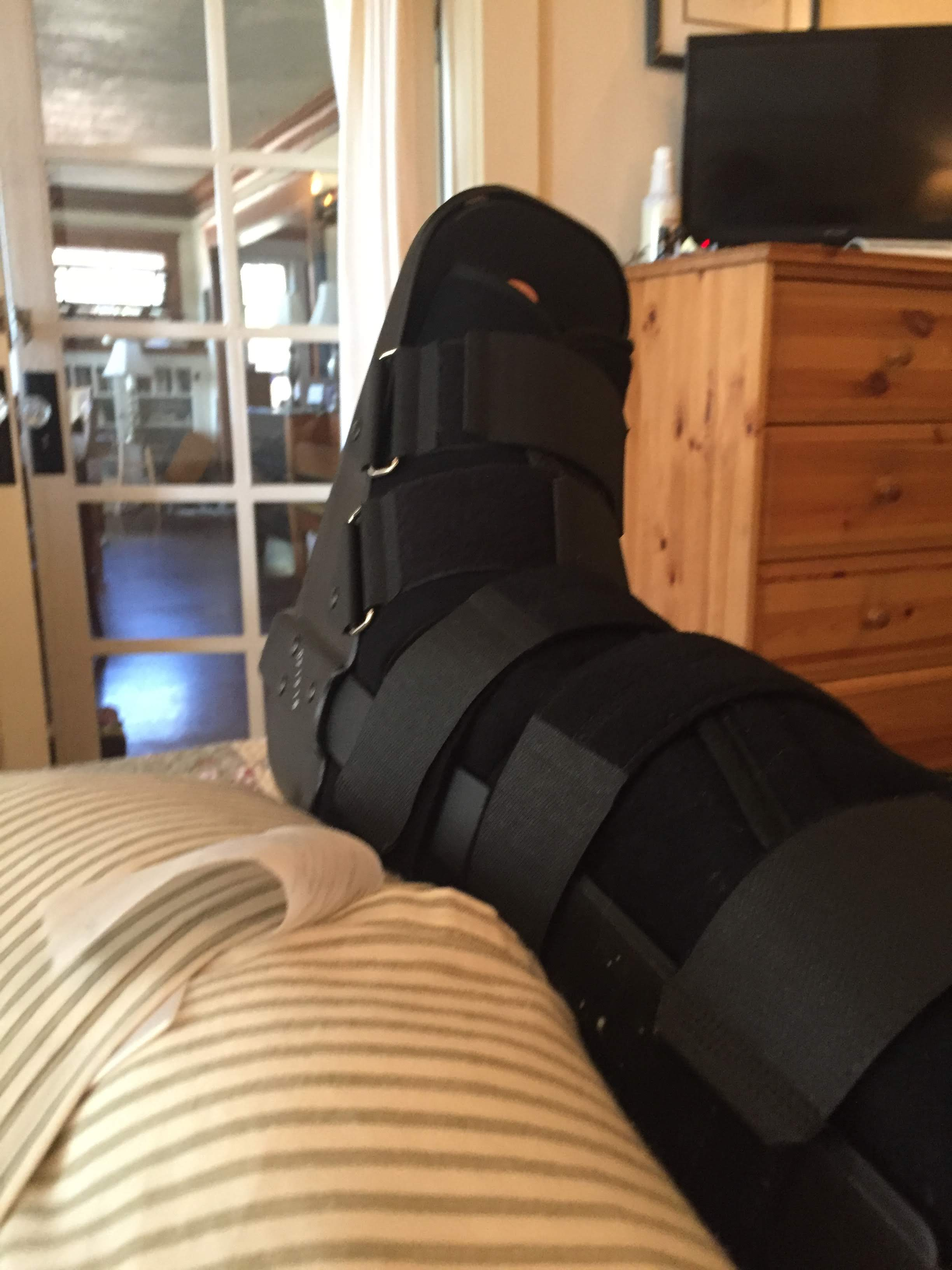 Ankle Post-Surgery Boot Elevation